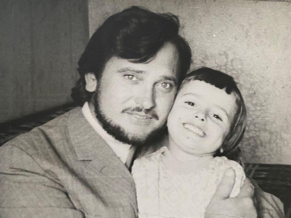 Ольга Сумська з батьком